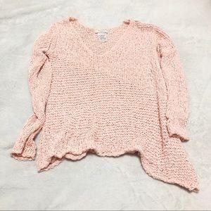 Aritzia Talula Asymmetrical knit V neck sweater XS